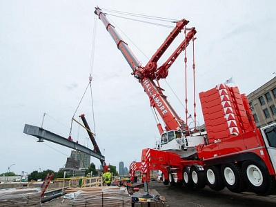Lifts on the Commonwealth Avenue Bridge Project