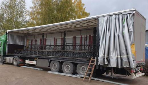 Delivery of metal constructions
